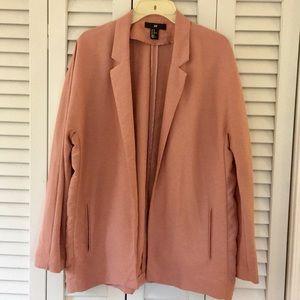 H&M blush pink shawl neck lightweight blazer